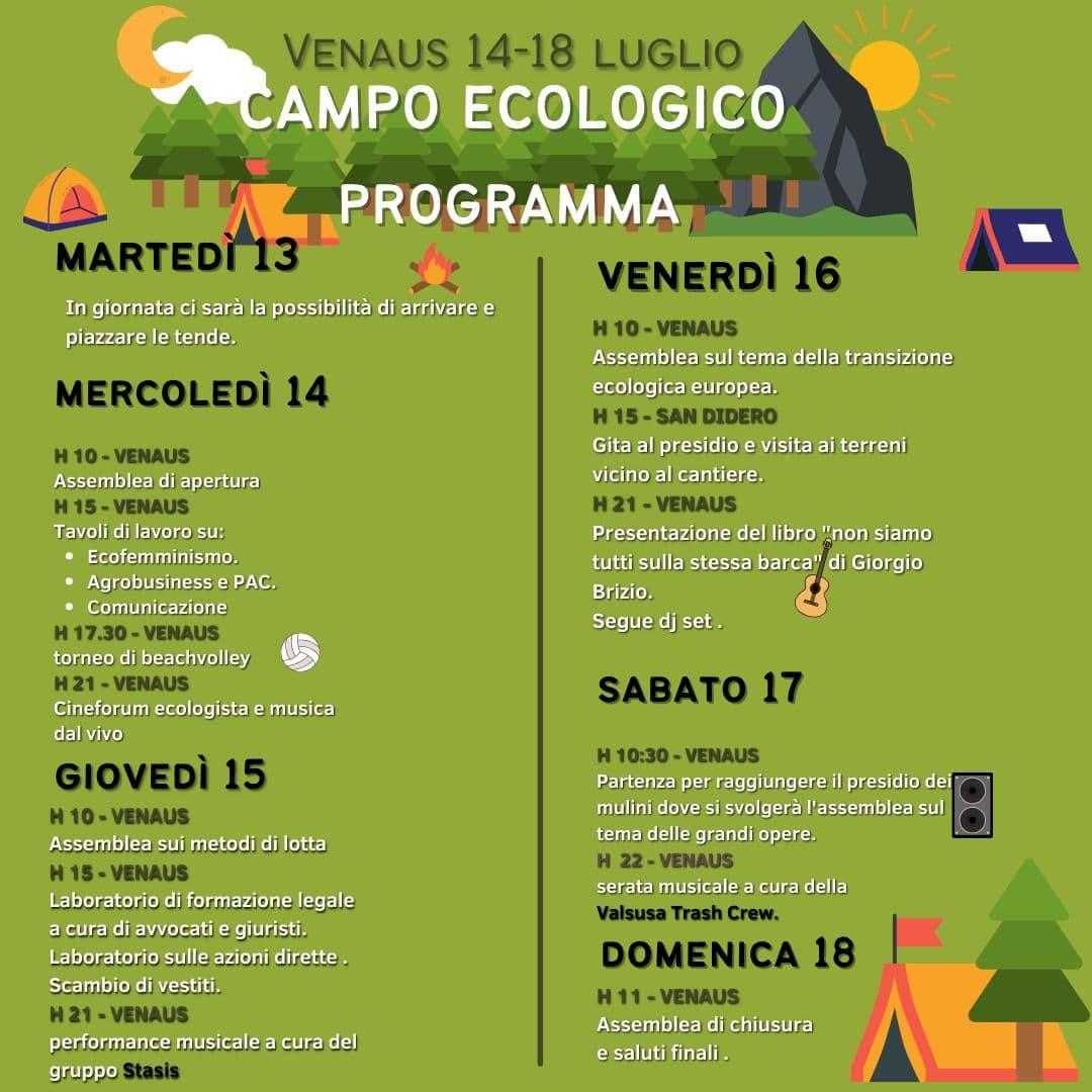 Immagine della notizia Campo Ecologico 14-18 luglio